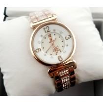 Rolex Ladies Fancy Stone Golden Watch HW-043