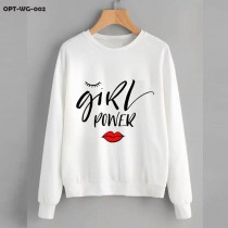 Girl Power White Sweat Shirt