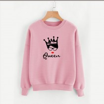 Queen Design Sweatshirt In Pink